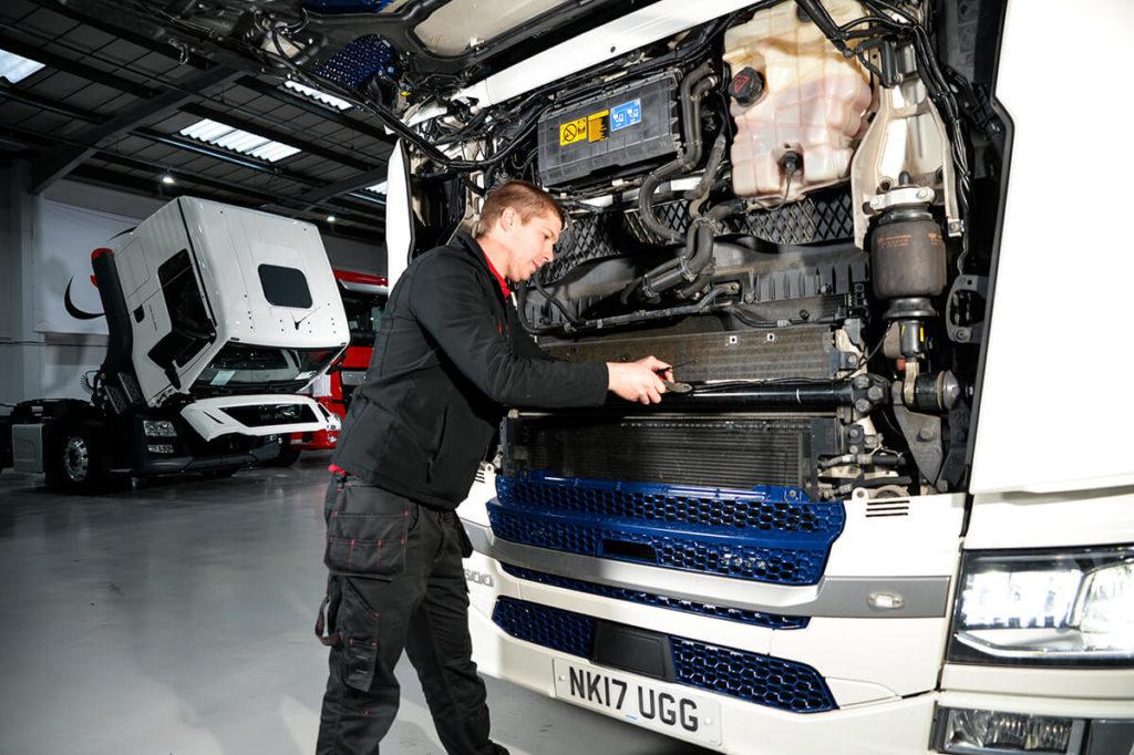 SM UK Engineer working on HGV