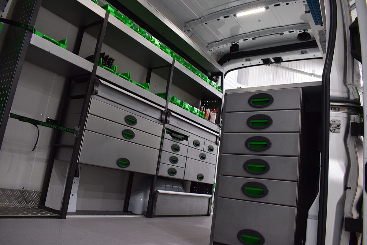 Van Conversion Racking Solutions by SM UK