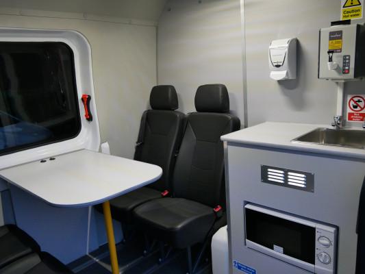 Internal view of SM UK Welfare Vans