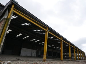 Empty warehouse being converted into new SM UK workshop