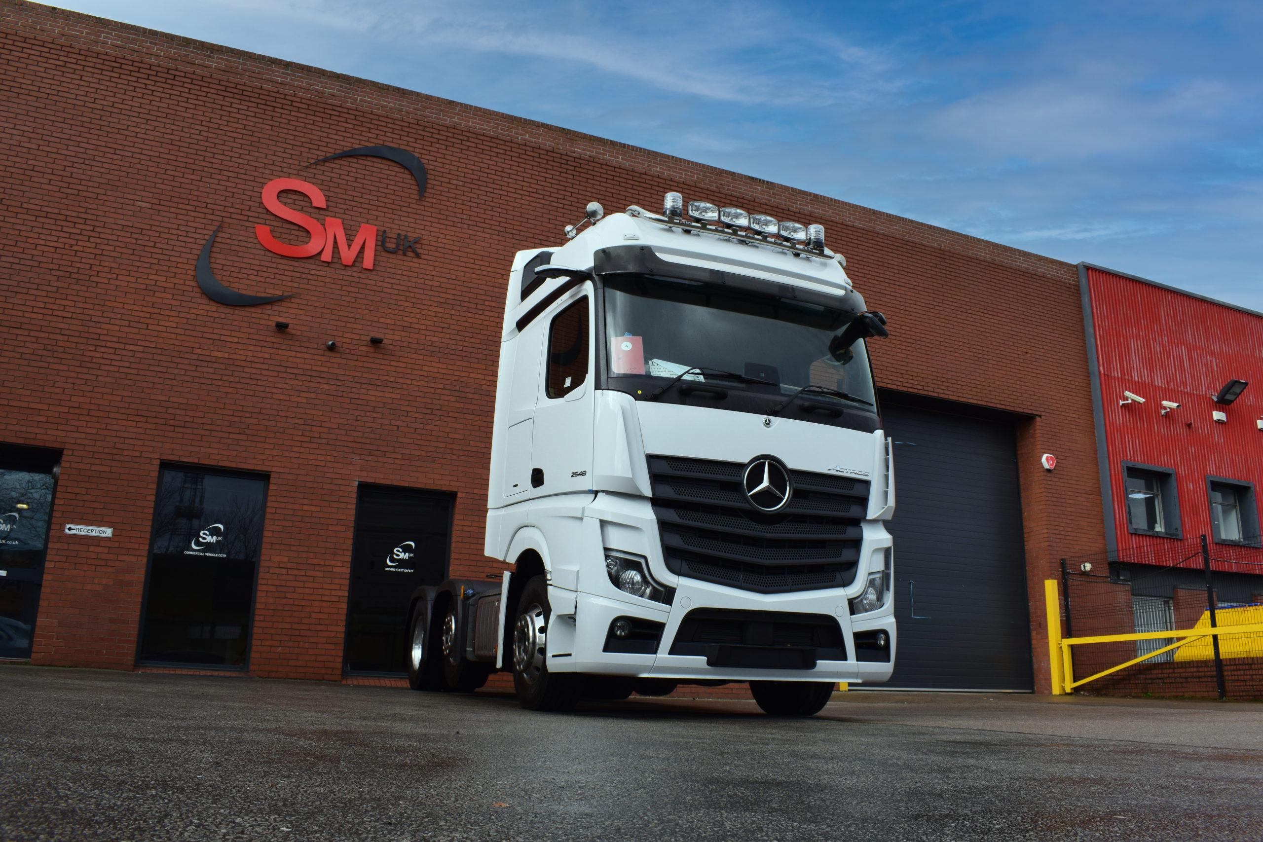 Truck outside SM UK Leeds workshop