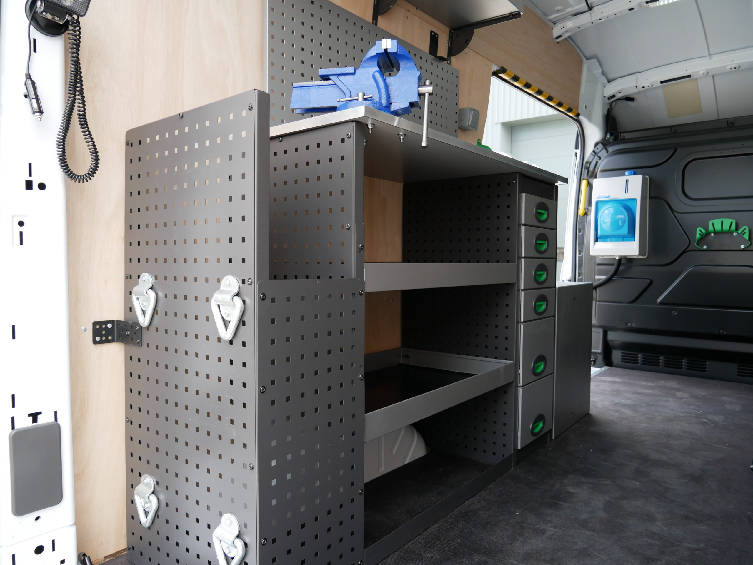 Harlaxton Engineering Mobile Service Van Conversion for Utilities Installer